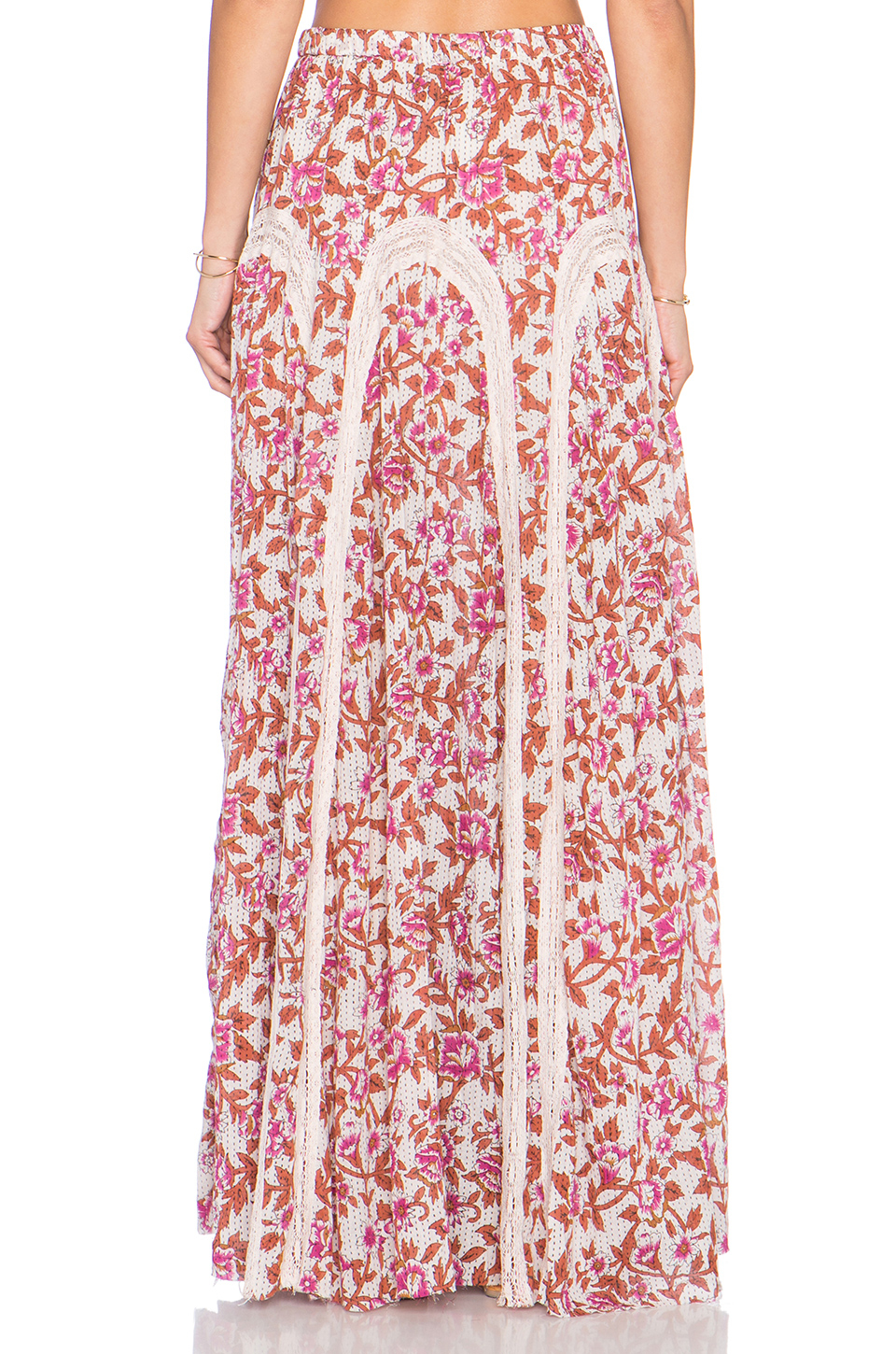 Free People Zoe Maxi Skirt In Red Lyst