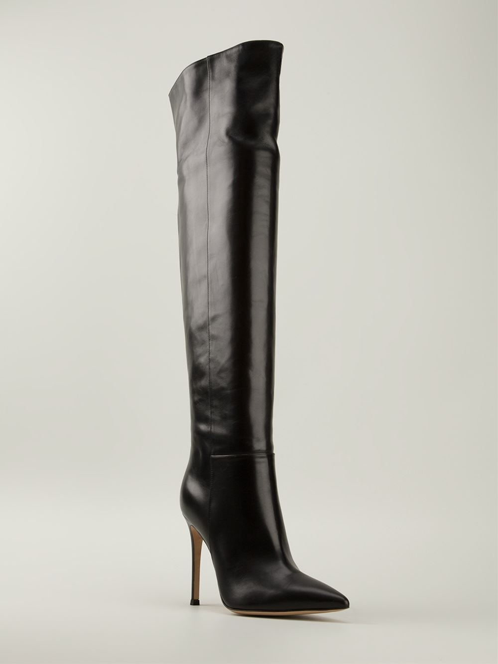 gianvito rossi 39 madison 39 knee high boots in black lyst. Black Bedroom Furniture Sets. Home Design Ideas
