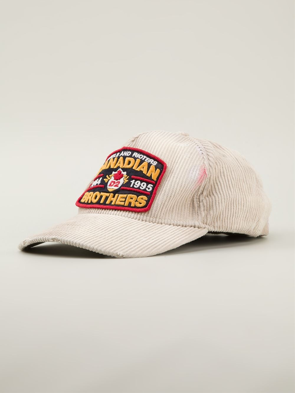 e10b2b18f DSquared² 'Canadian Brothers' Baseball Cap in Natural for Men - Lyst