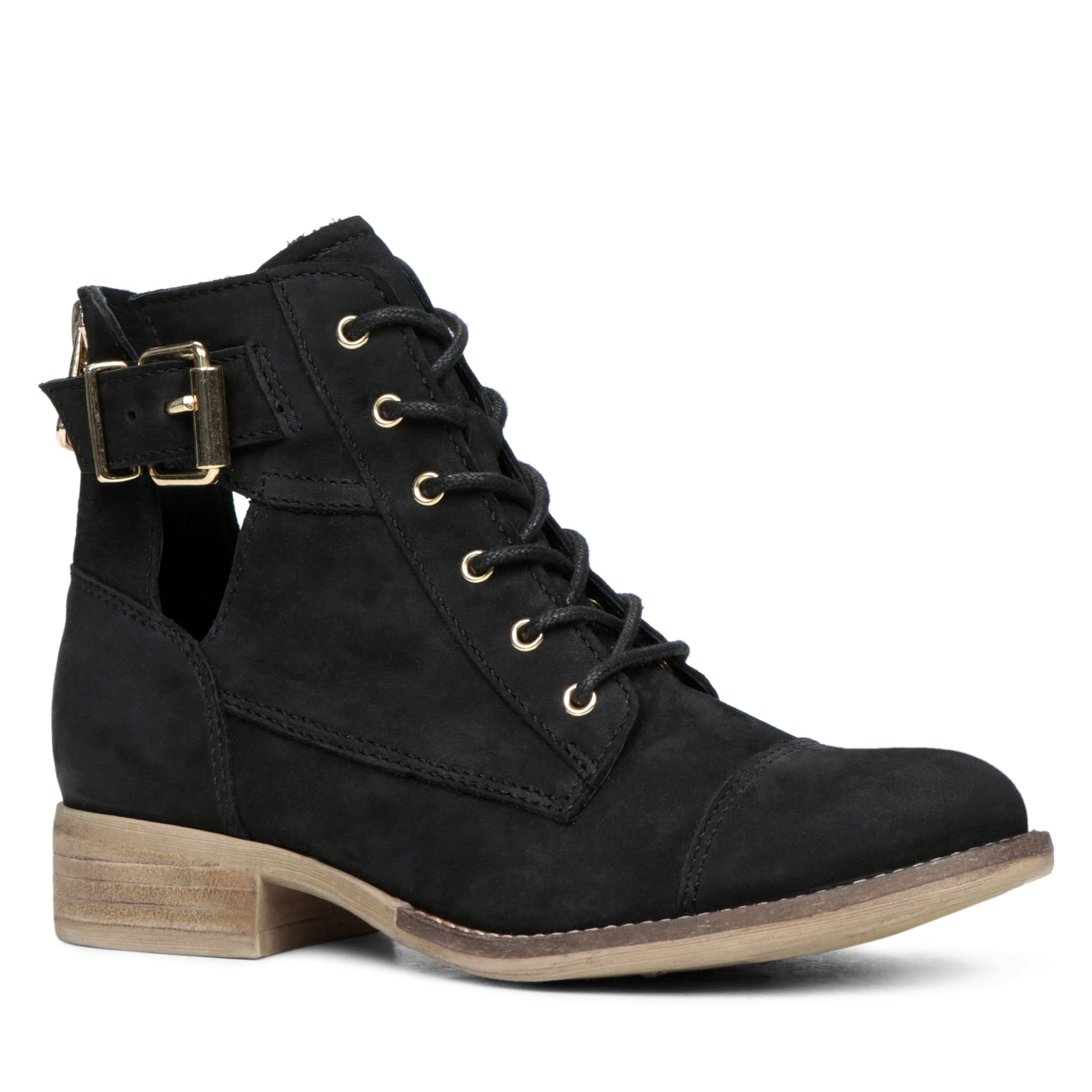 aldo iovine lace up ankle boots in black lyst