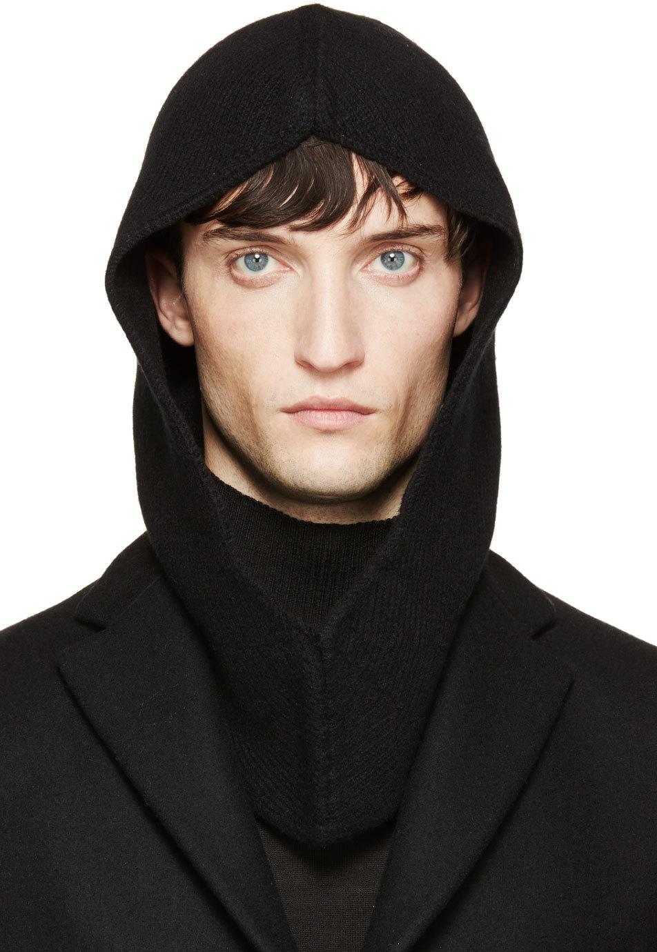 Rick Owens Black Wool Moog Hood For Men Lyst
