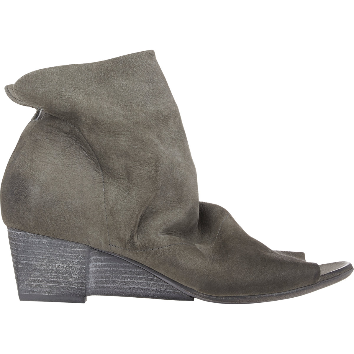 marsell mars 232 ll notched wedge ankle boots grey size 5 5 in