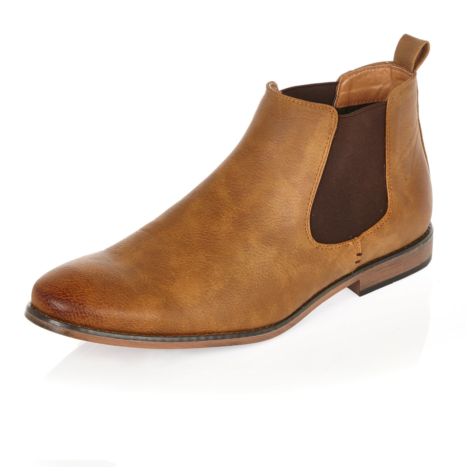 Mens Tan brown suede chelsea boots River Island Prices Cheap Online 4Lh2wz
