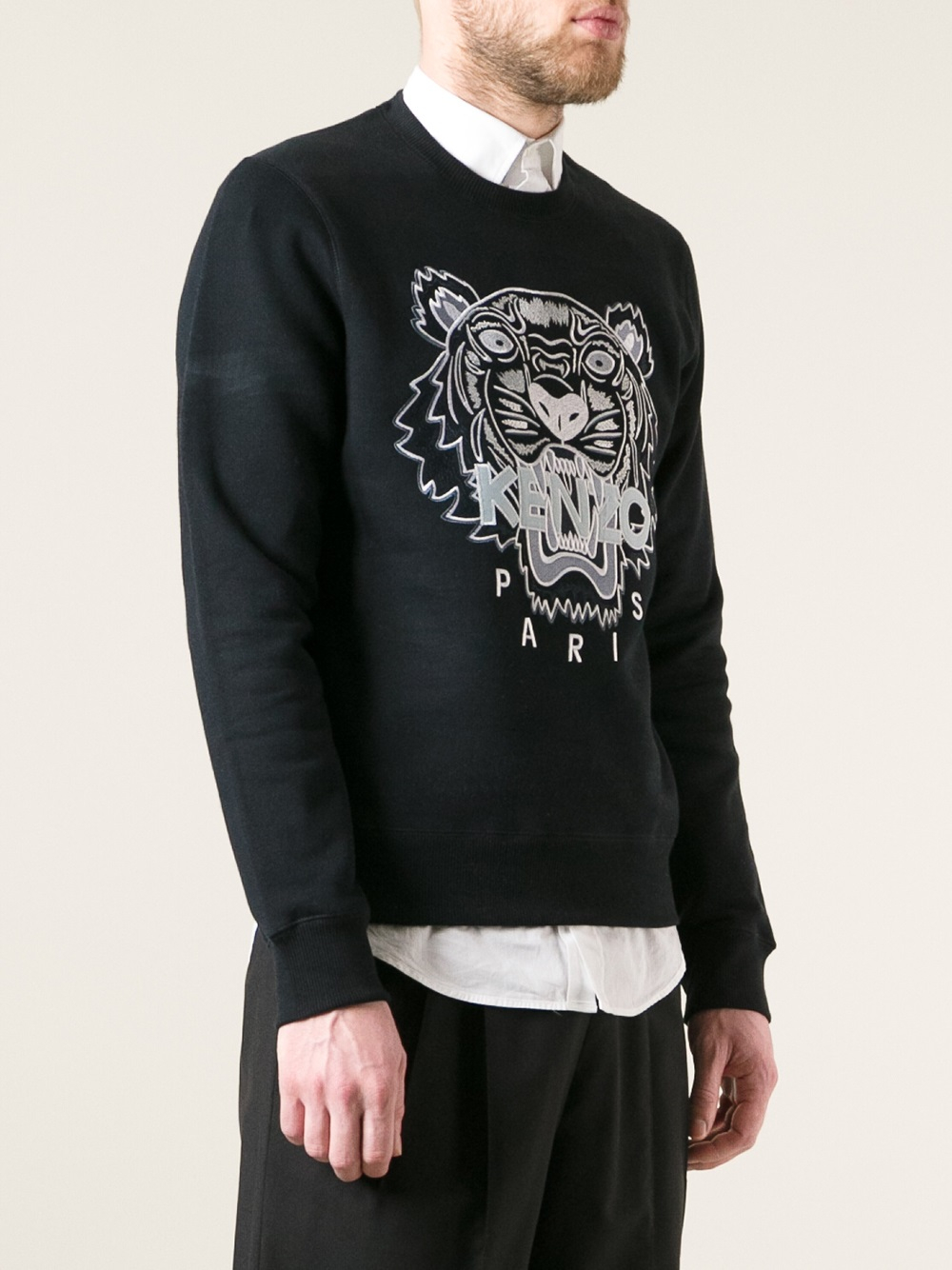 kenzo brody sweater in black for men lyst. Black Bedroom Furniture Sets. Home Design Ideas