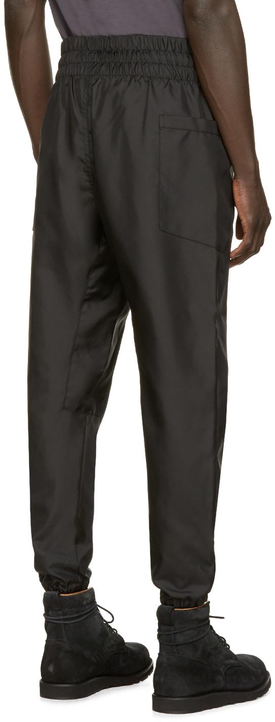 Alexandre Plokhov Black Side Pocket Wind Pants for Men