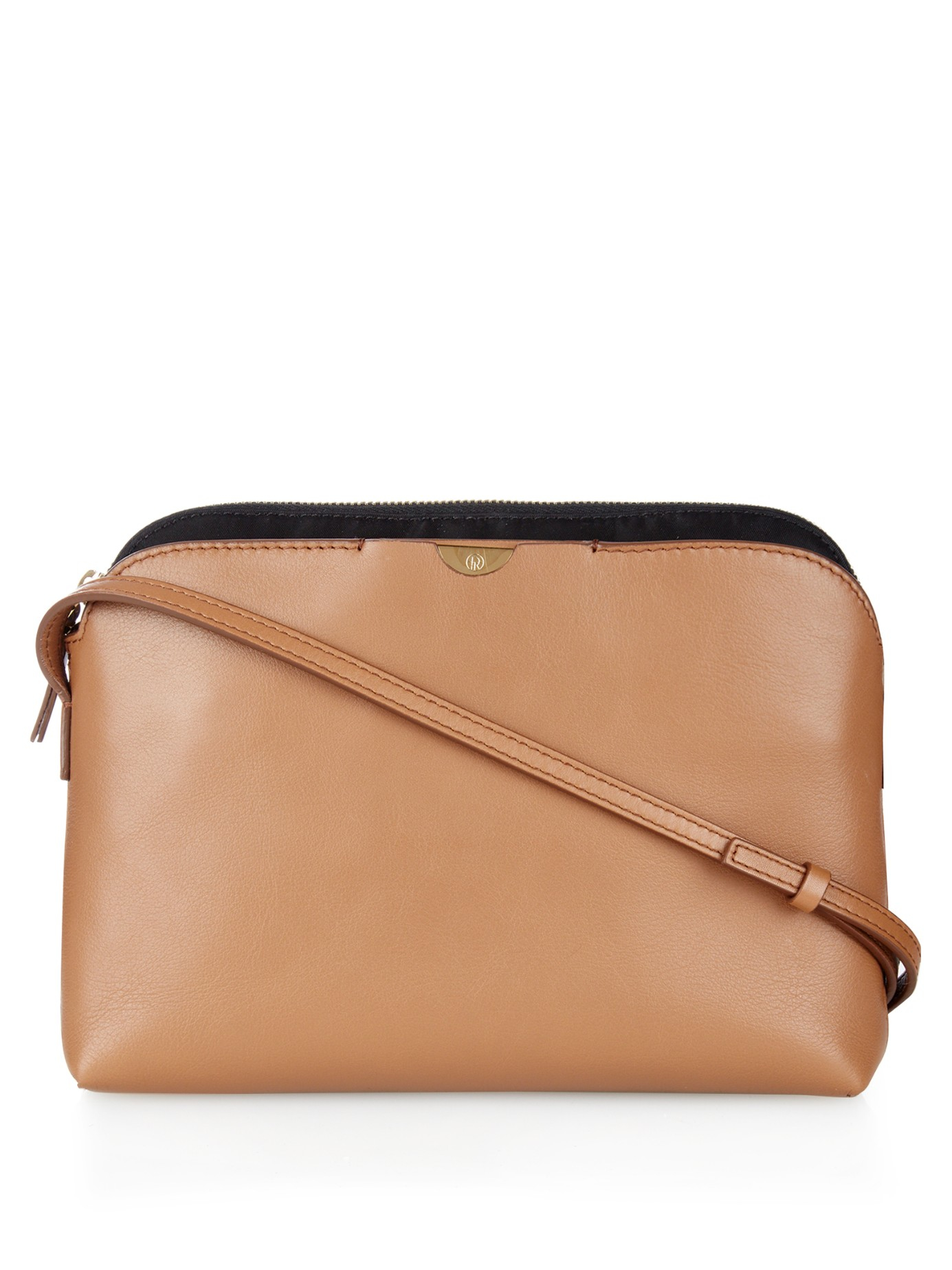 Lyst The Row Multi Pouch Leather Cross Body Bag In Brown Gallery