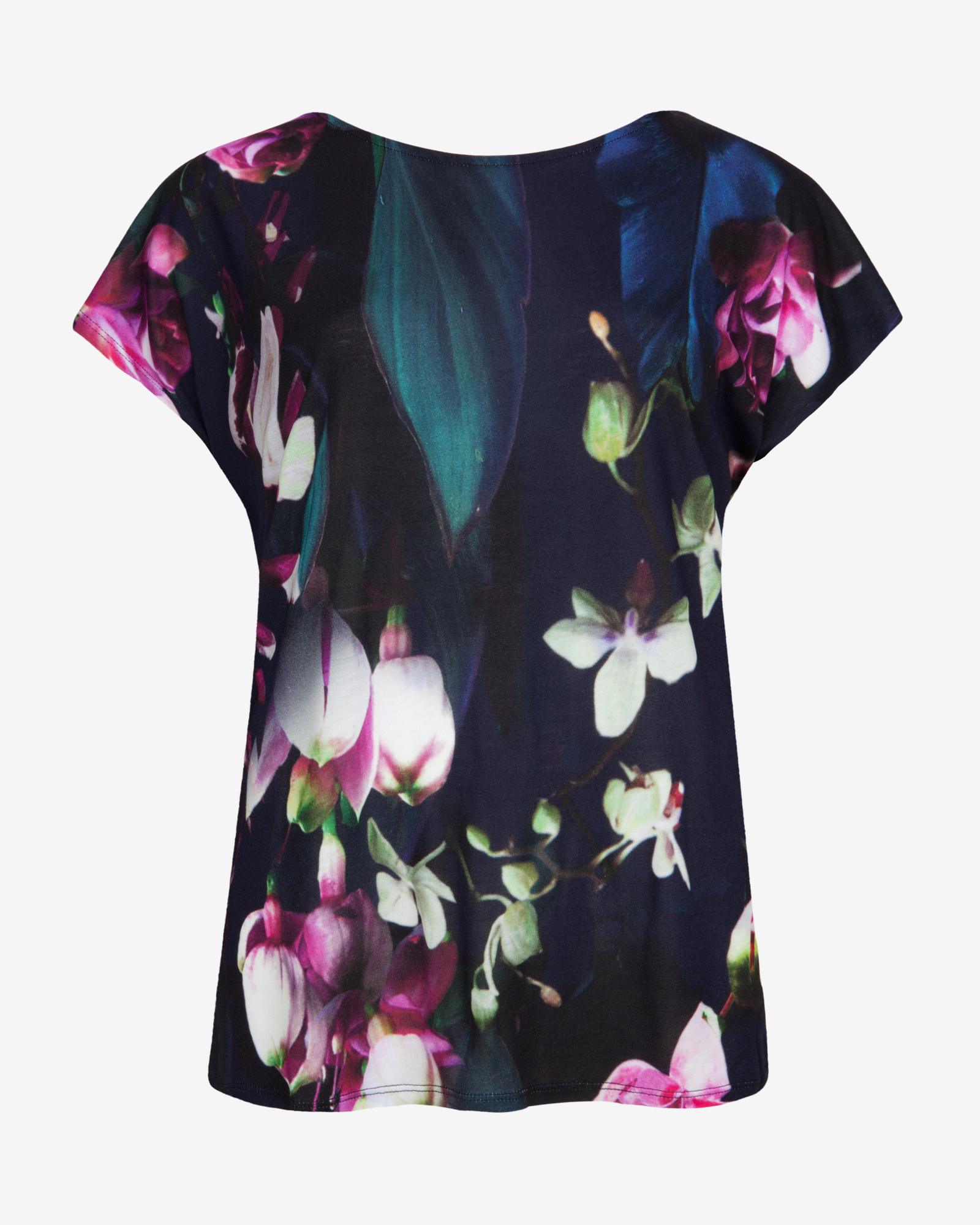 Ted baker fuchsia floral t shirt in blue lyst for Ted baker floral shirt