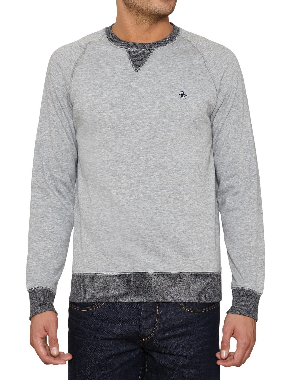 Original Penguin Marshall Jersey Sweatshirt in Grey for Men