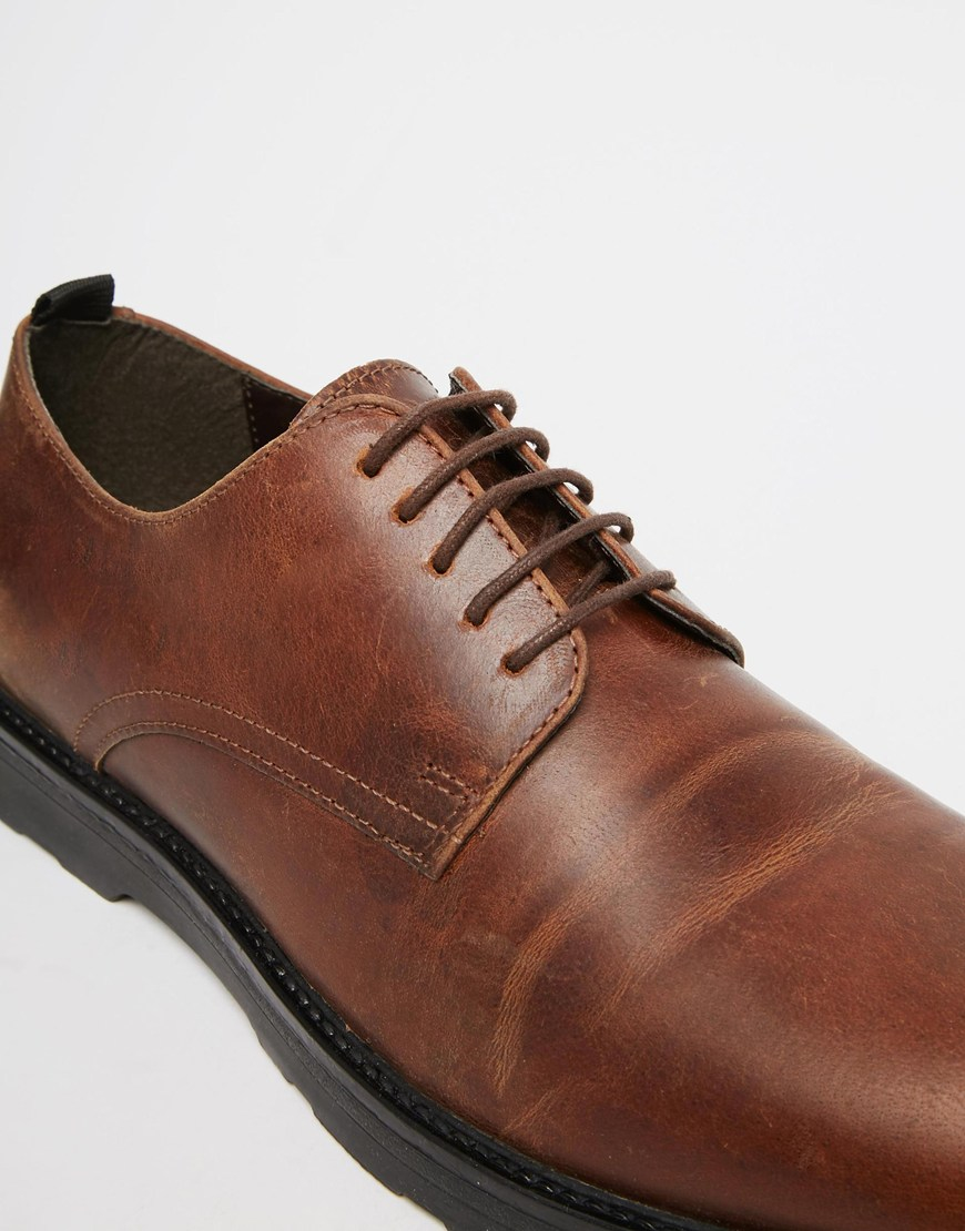0a6ef5275e89 Asos Shoes Brown Men For Derby Leather In Lyst HERqadH