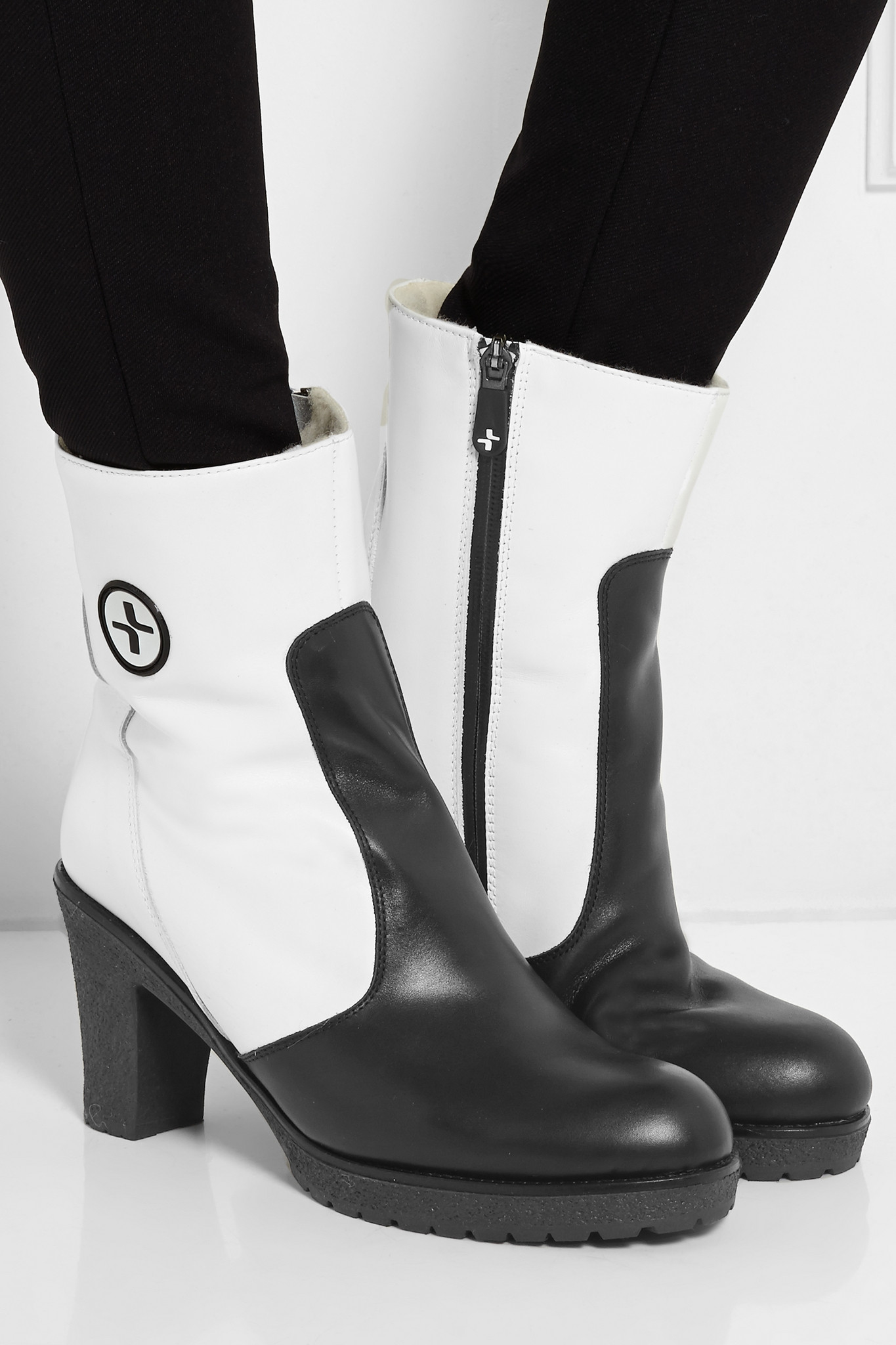 lacroix salzbourg fleece lined leather boots in white lyst