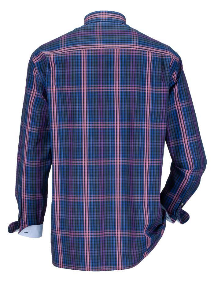 Babista Overhemd Paars::nachtblauw::roze in het Blauw voor heren