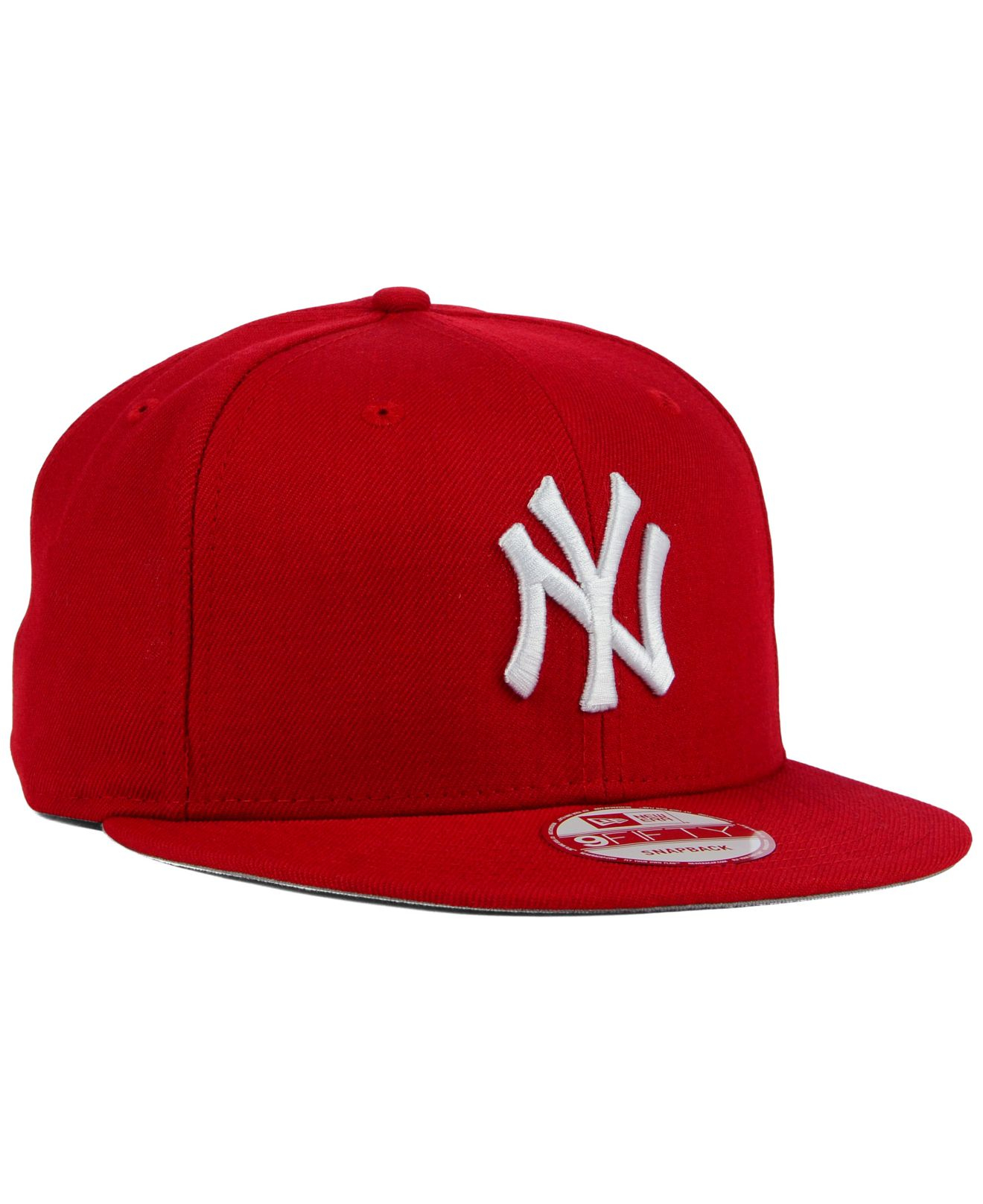 3968c834acb ... where to buy lyst ktz new york yankees c dub 9fifty snapback cap in red  for