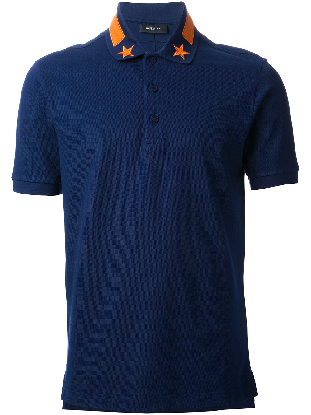 givenchy embroidered polo shirt in blue for men lyst