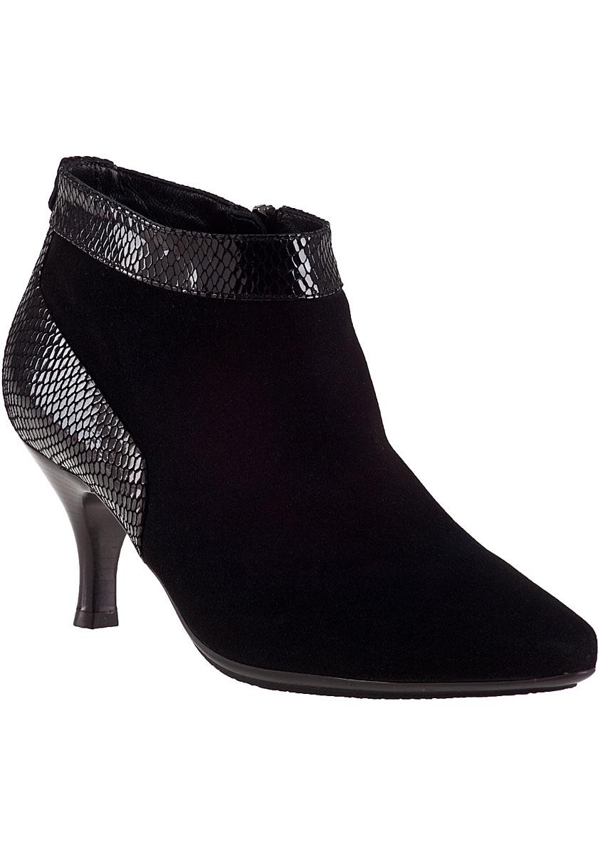 aquatalia max ankle boot black suede in black lyst