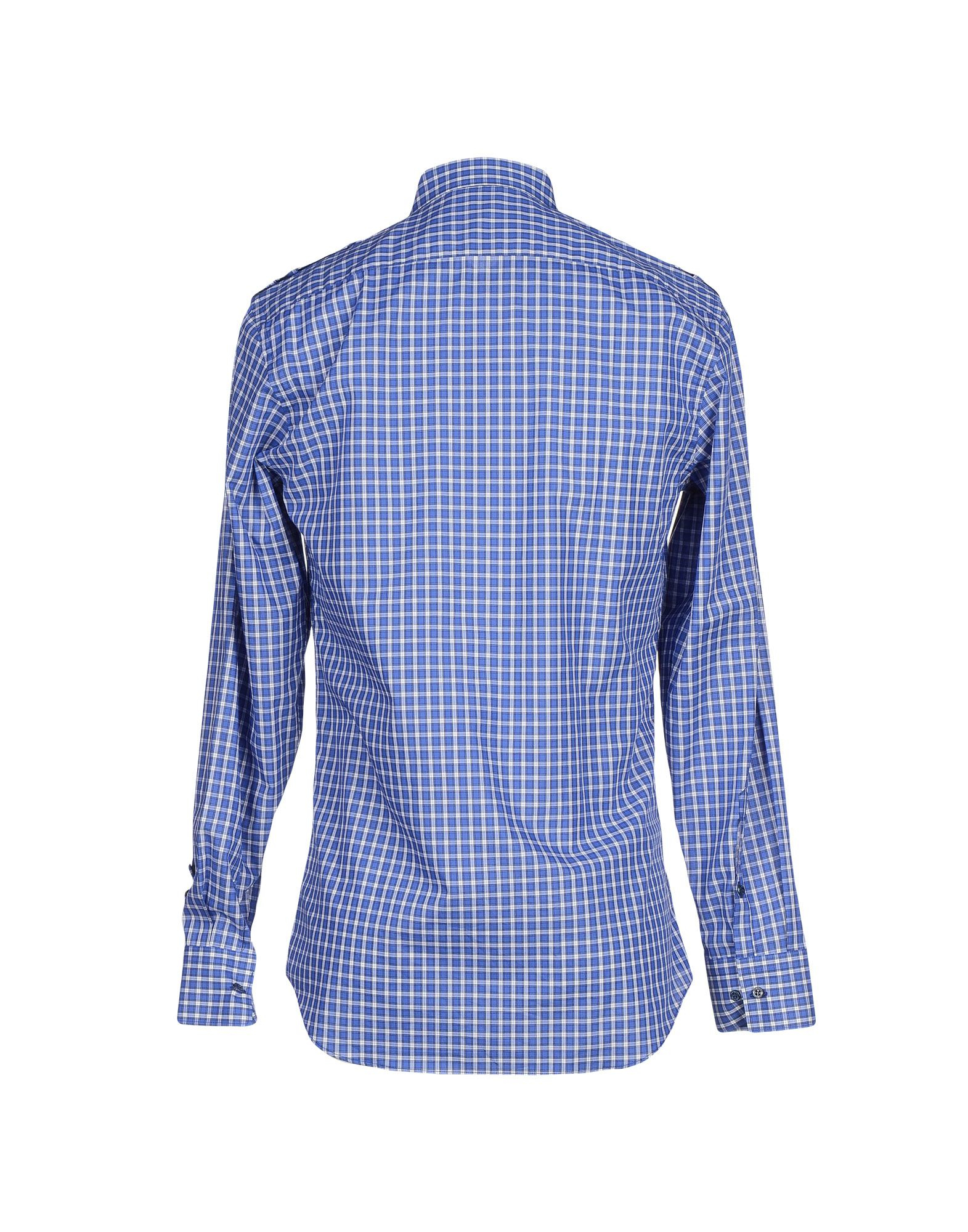 Lyst neil barrett shirt in blue for men for Neil barrett tuxedo shirt