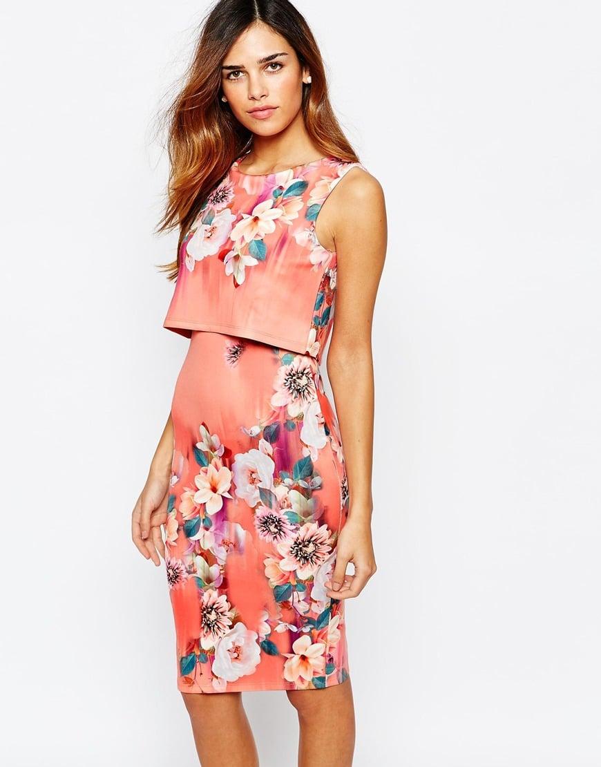 Floral print bodycon dresses street
