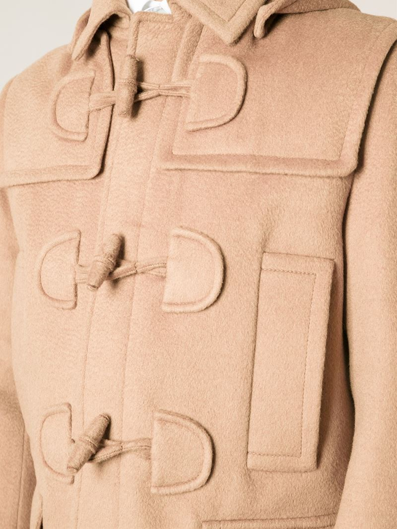 Valentino Toggle Fastening Duffle Coat in Natural for Men   Lyst