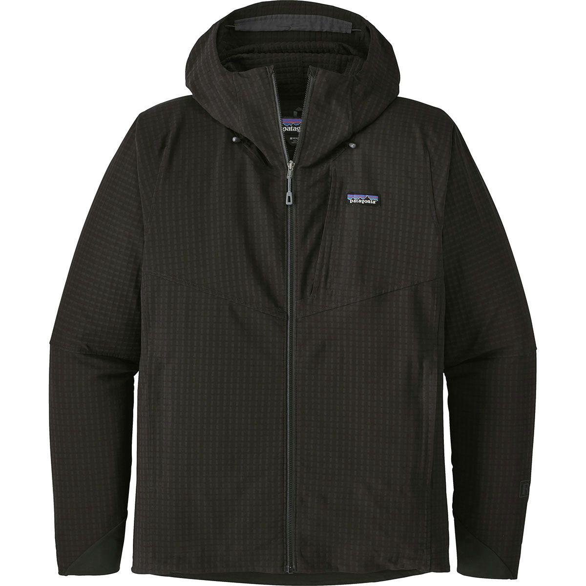 5e0c3122188 Lyst - Patagonia R1 Techface Hooded Fleece Jacket in Black for Men