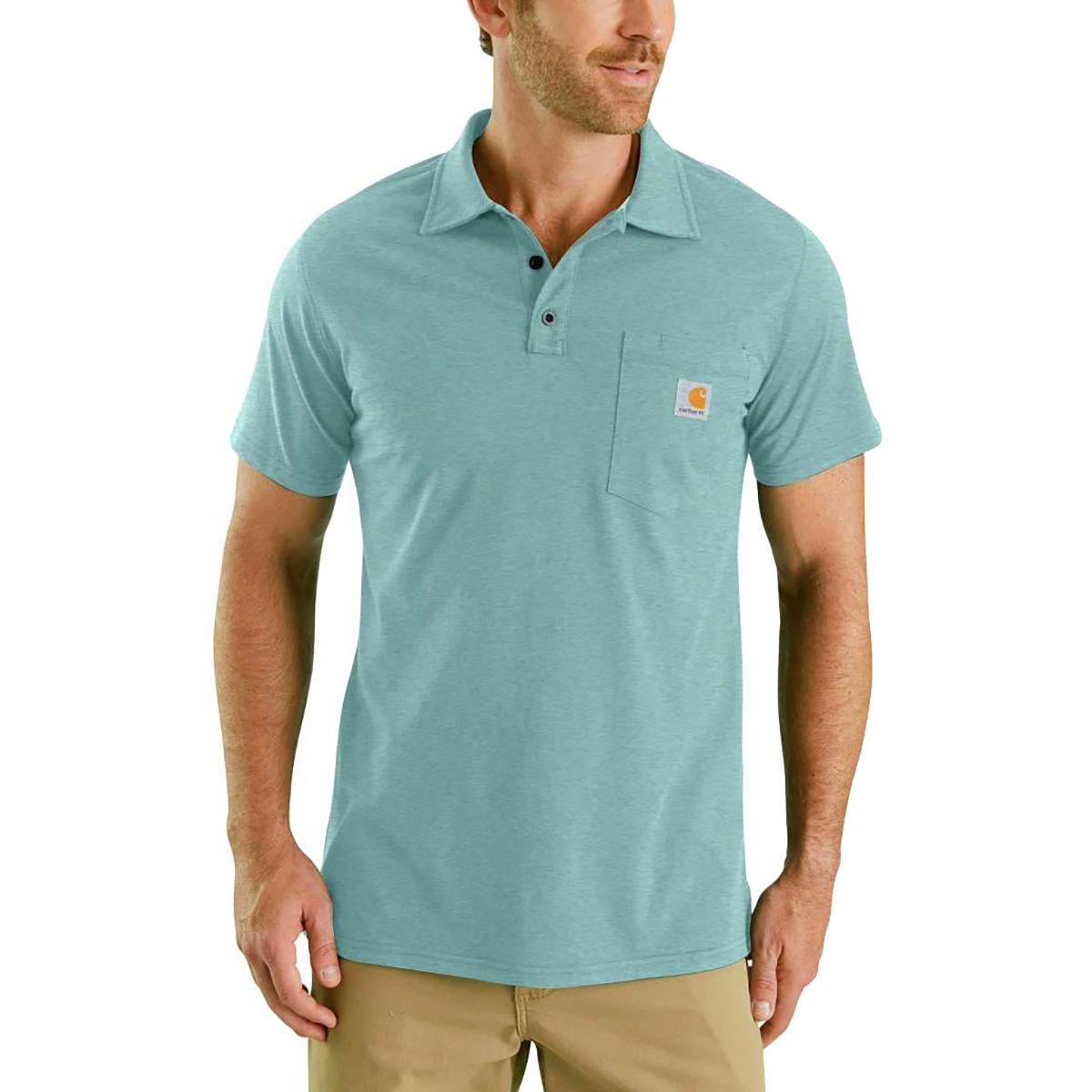 90db9c2f3f7 Lyst - Carhartt Force Cotton Delmont Pocket Polo Shirt in Blue for Men