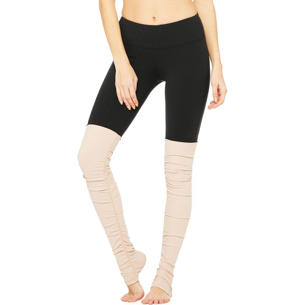 36ffa441d3 Lyst - Alo Yoga Goddess Ribbed Leggings in Black