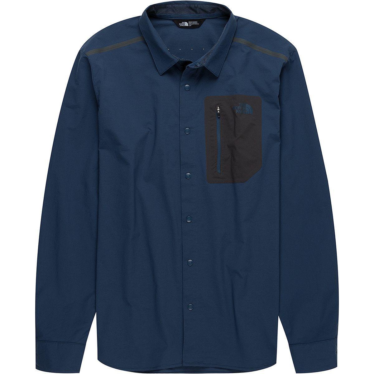 162be6190 The North Face Blue Alpenbro Long-sleeve Woven Shirt for men