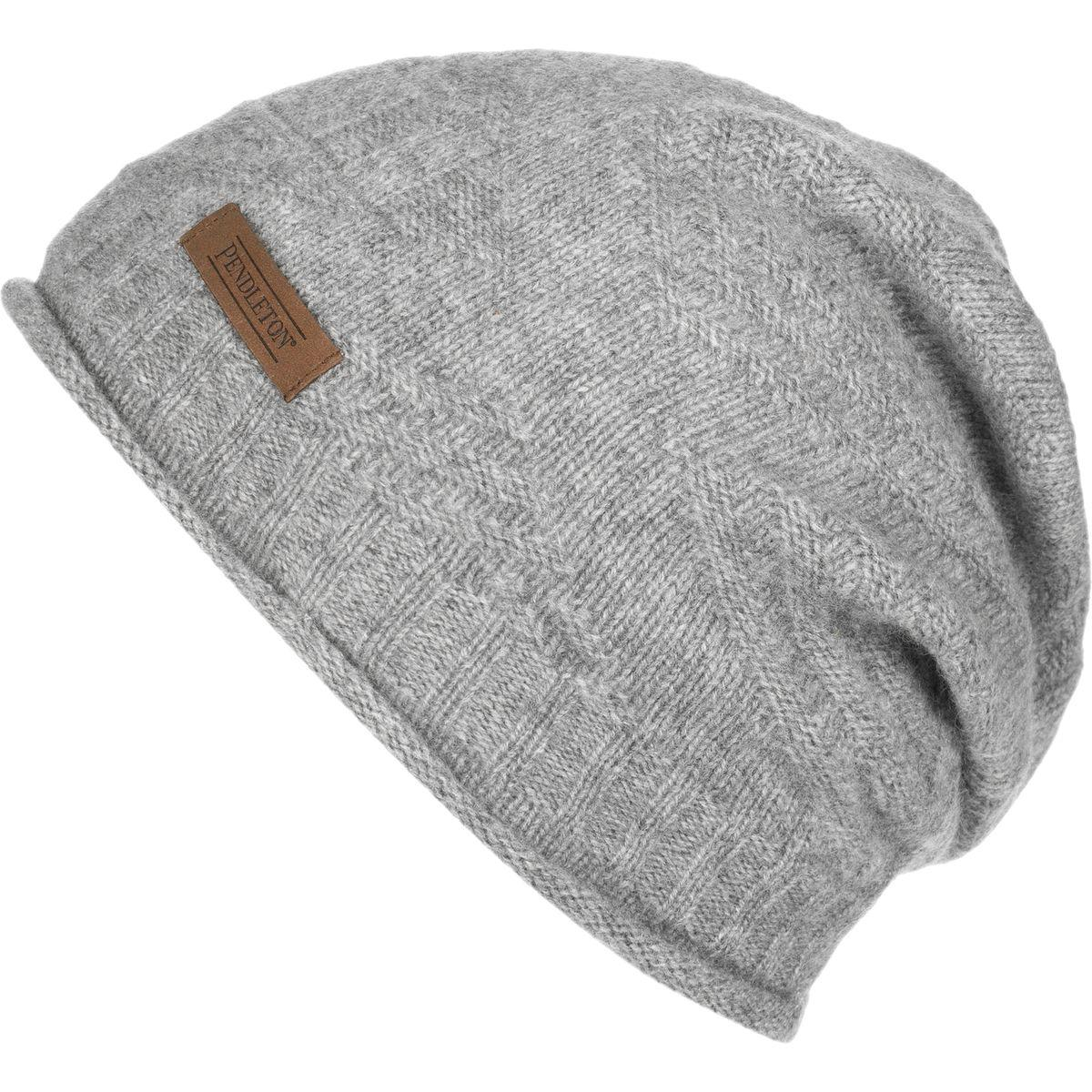 d1c32257bd06f Lyst - Pendleton Cashmere Roll Edge Hat in Gray for Men