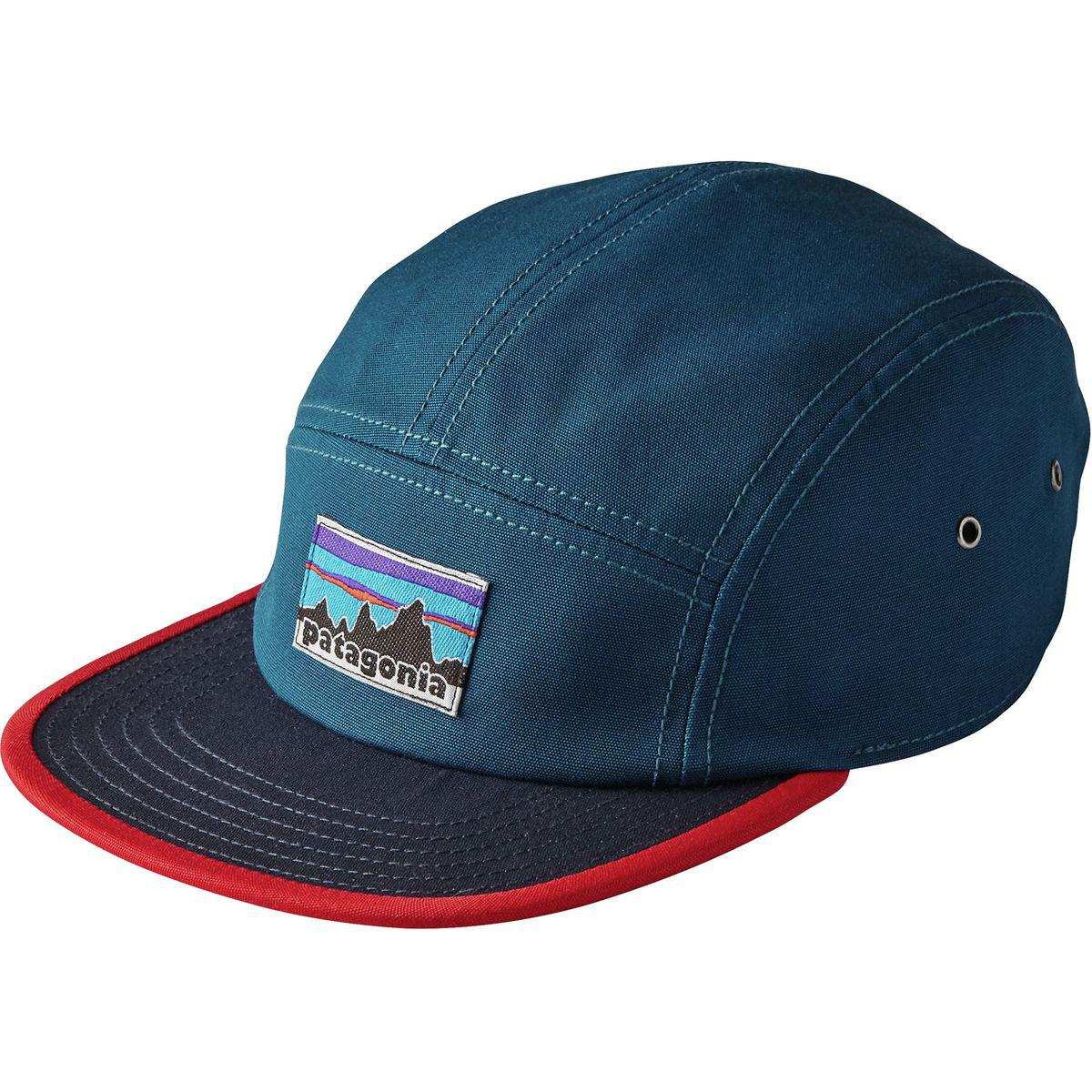 Lyst - Patagonia Retro Fitz Roy Label Tradesmith 5-panel Cap in Blue ... 6ae3ed476e1