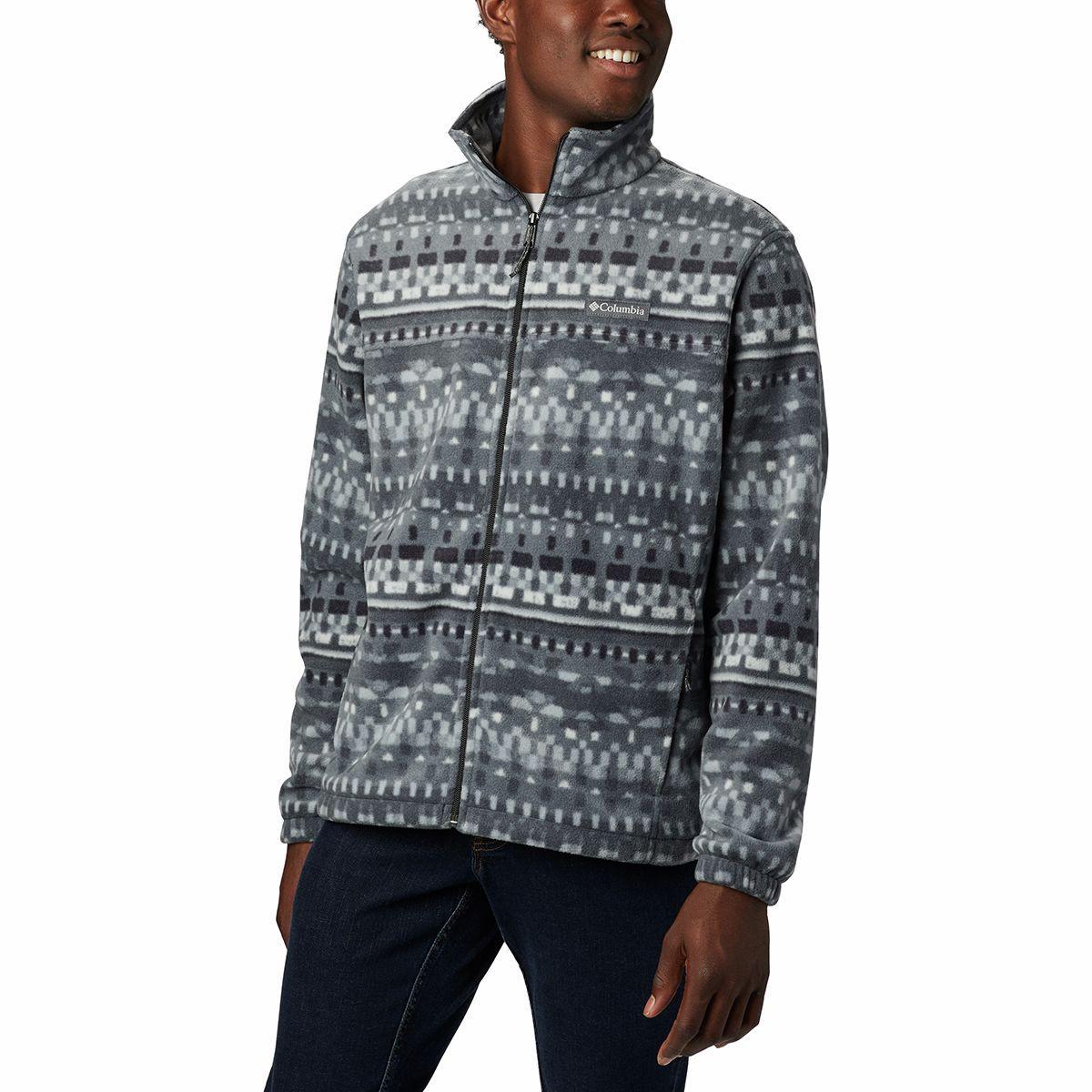 Columbia Steens Mountain Print Fleece Jacket in Black for ...