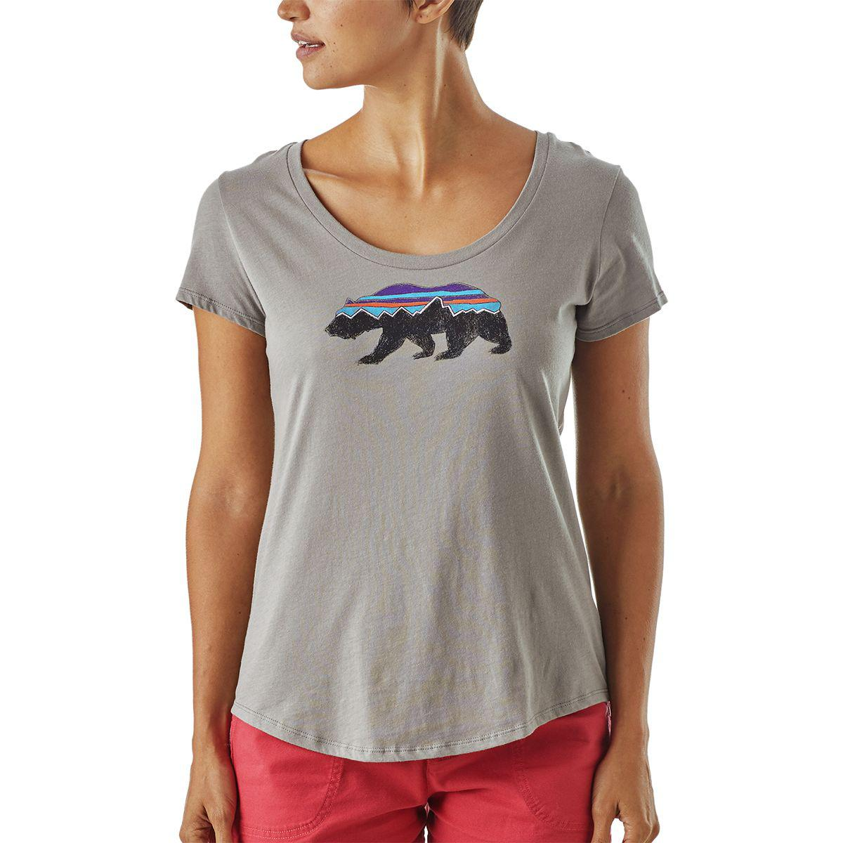 5388d64bbf0670 Lyst - Patagonia Fitz Roy Bear Organic Scoop T-shirt in Gray
