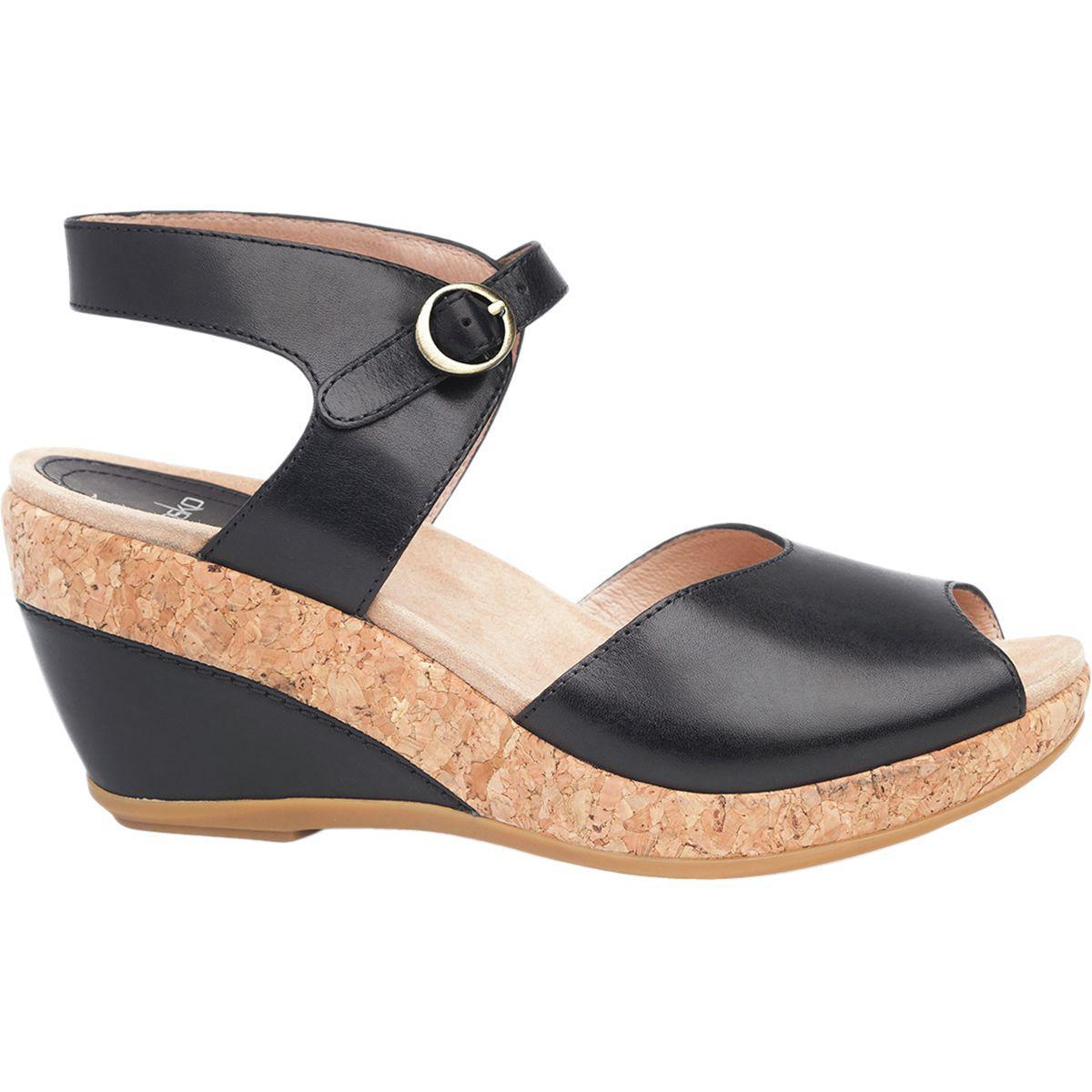 Dansko Vanda Milled Nubuck Strain Resistant Peep Toe Slingback Sandals 8cqeMbd