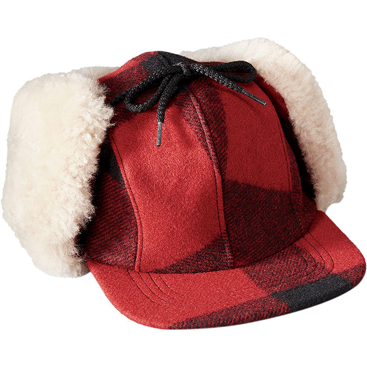 8d2b45857 Lyst - Filson Double Mackinaw Cap in Red for Men