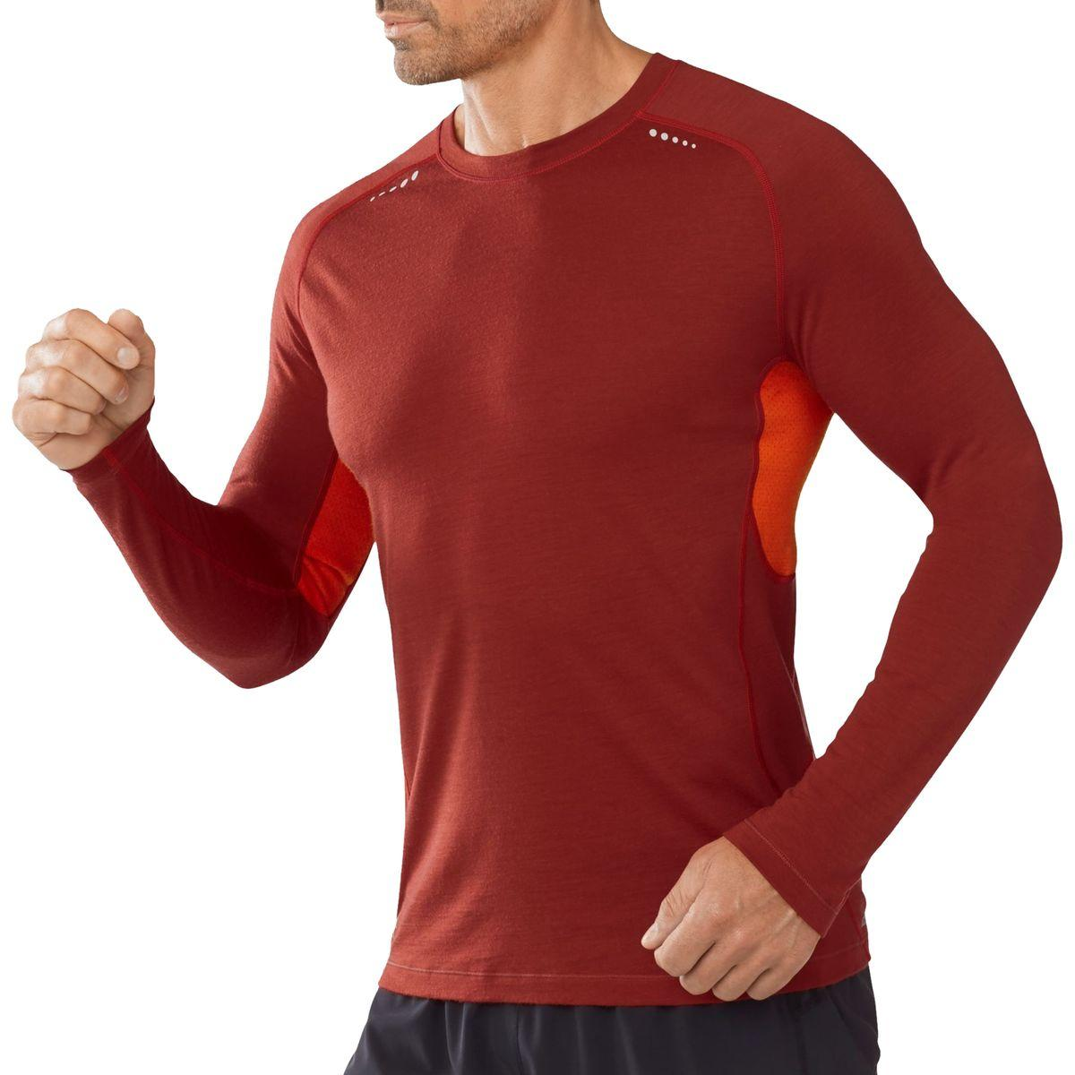 Smartwool Wool Phd Ultra Light Shirt Long Sleeve In Red