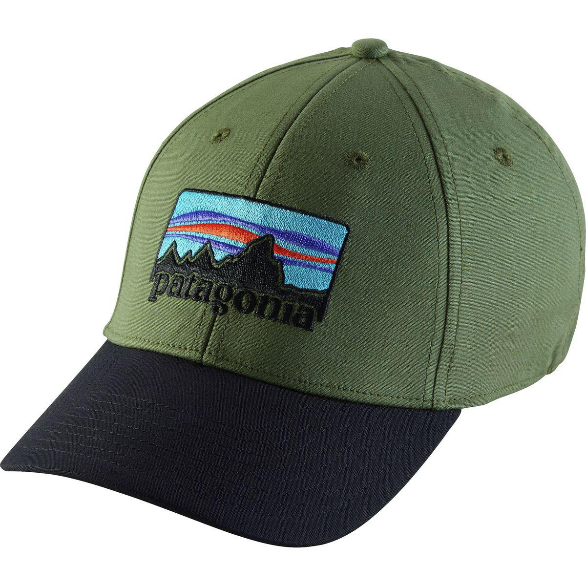 e158b1a0397 Lyst - Patagonia  73 Logo Stretch Fit Hat in Green for Men