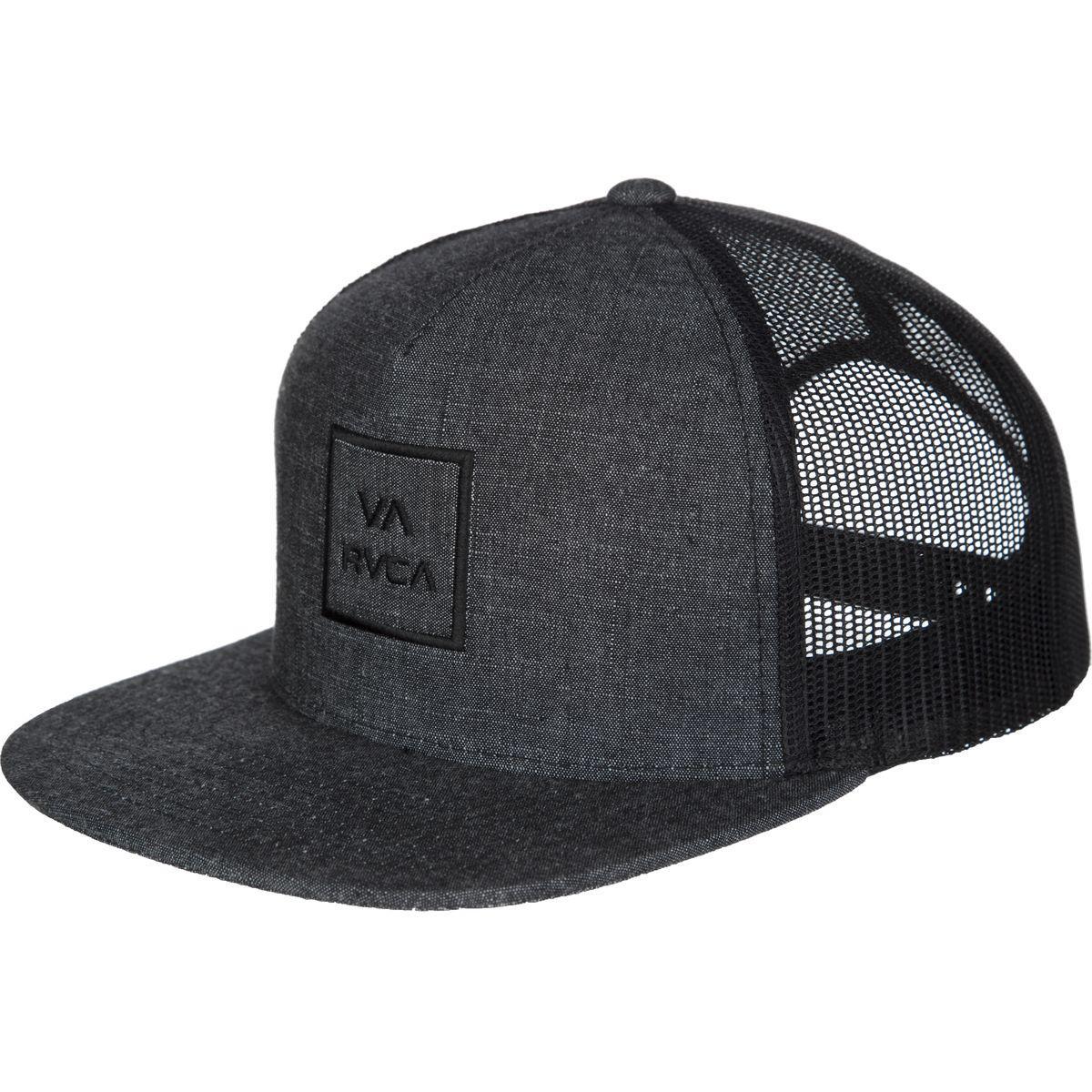 Lyst - RVCA Va All The Way Iii Trucker Hat in Black for Men 8e78bc34603