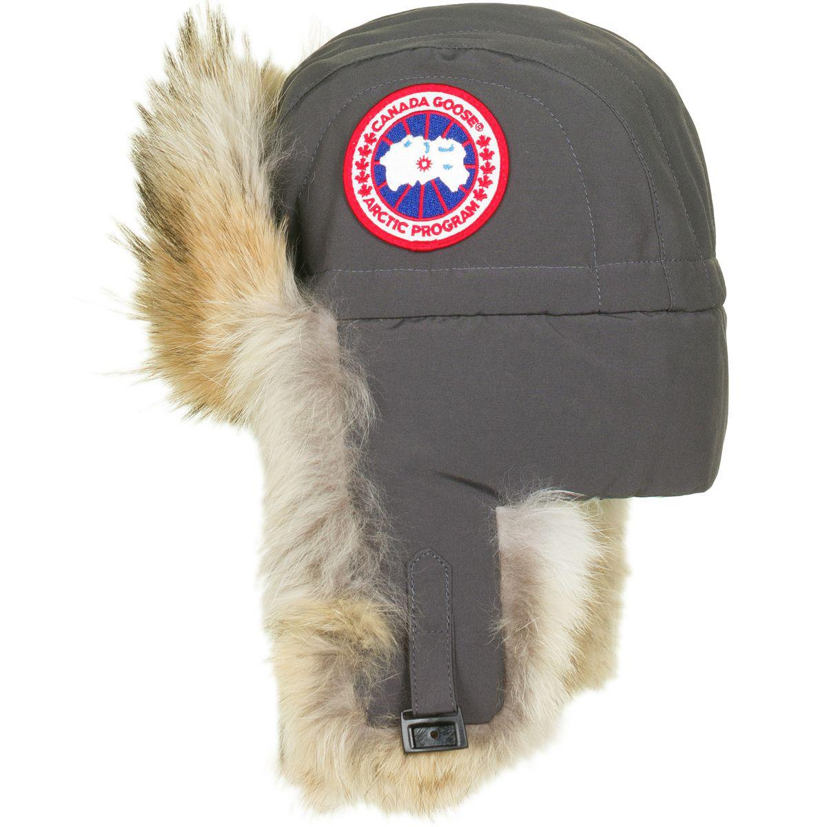 3151db543758 Canada Goose Aviator Hat in Gray - Lyst