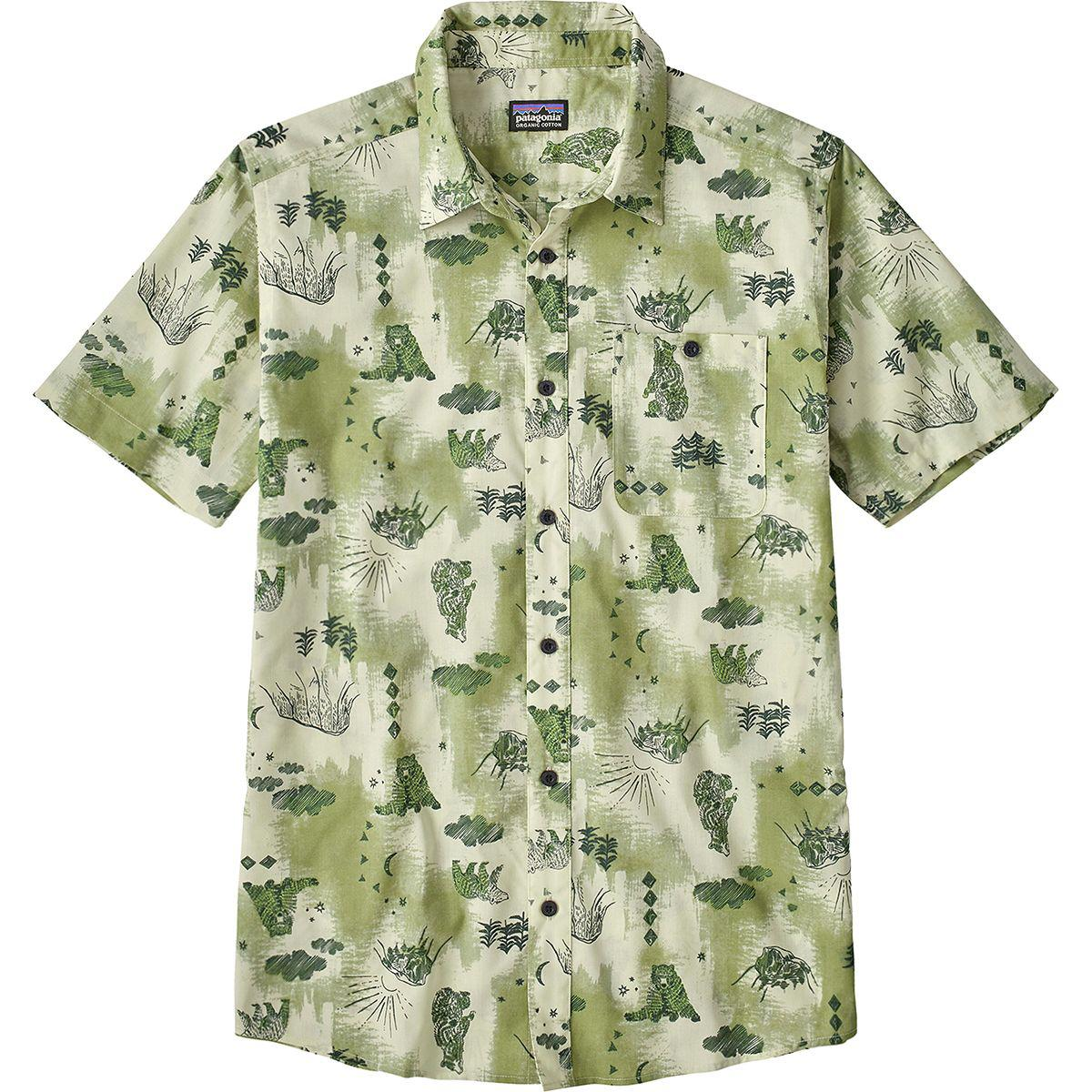 235bb53b52f9 Lyst - Patagonia Go To Slim Fit Shirt in Green for Men