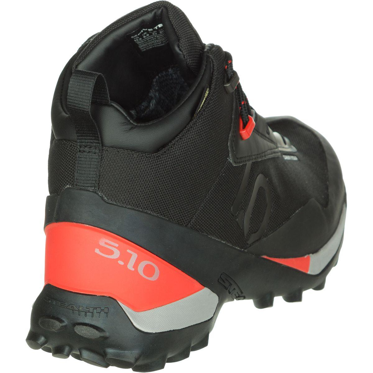 shoes for cheap timeless design high fashion Five Ten Rubber Camp Four Mid Gtx Shoe in Black/Red (Black) for ...