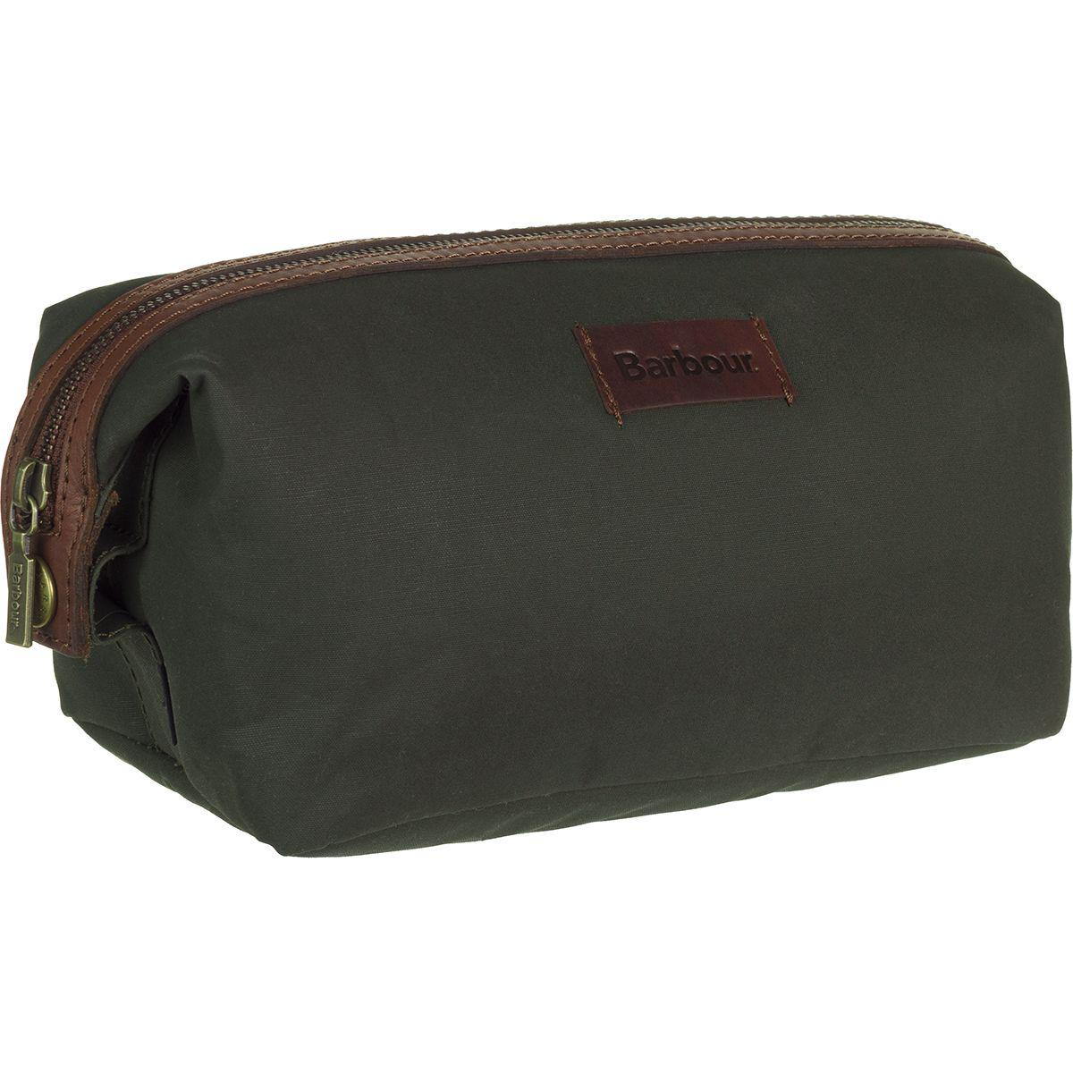 14a86ed5ec74 Lyst - Barbour Drywax Convertible Washbag in Green
