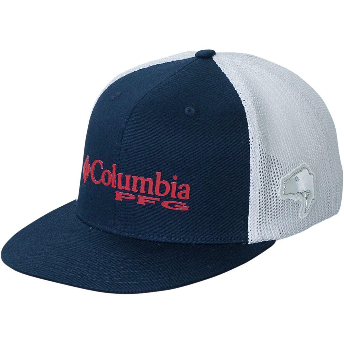 7338c34848c Columbia - Blue Pfg Mesh Flat Brim Hat for Men - Lyst. View fullscreen