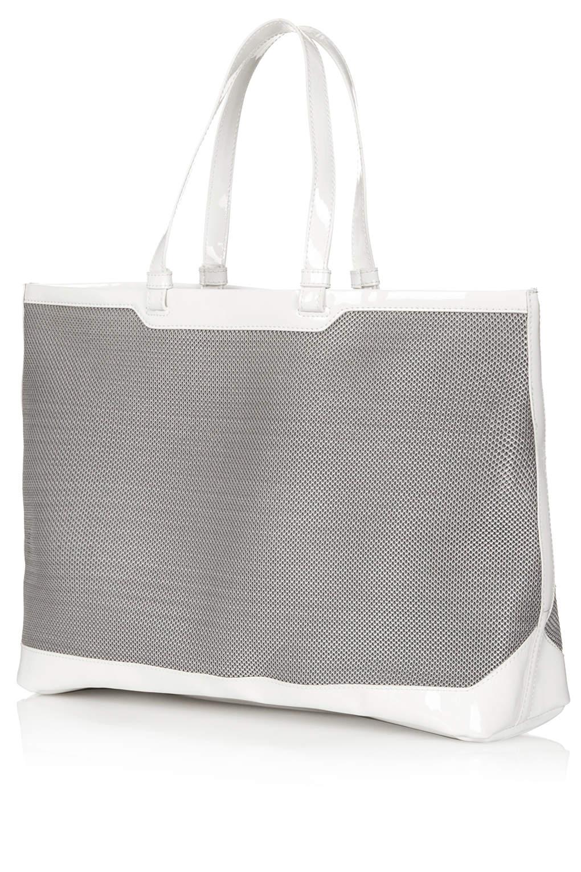 TOPSHOP Mesh Tote Bag in Grey (Grey)