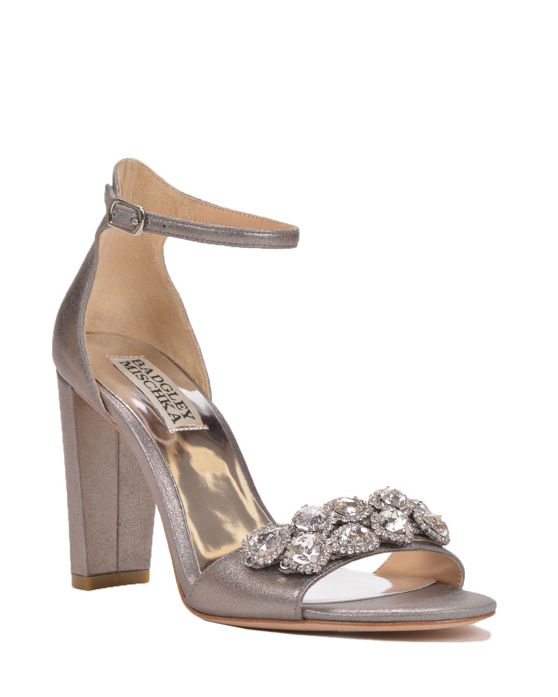Badgley Mischka Lennox Ii Embellished Evening Shoe In Gray