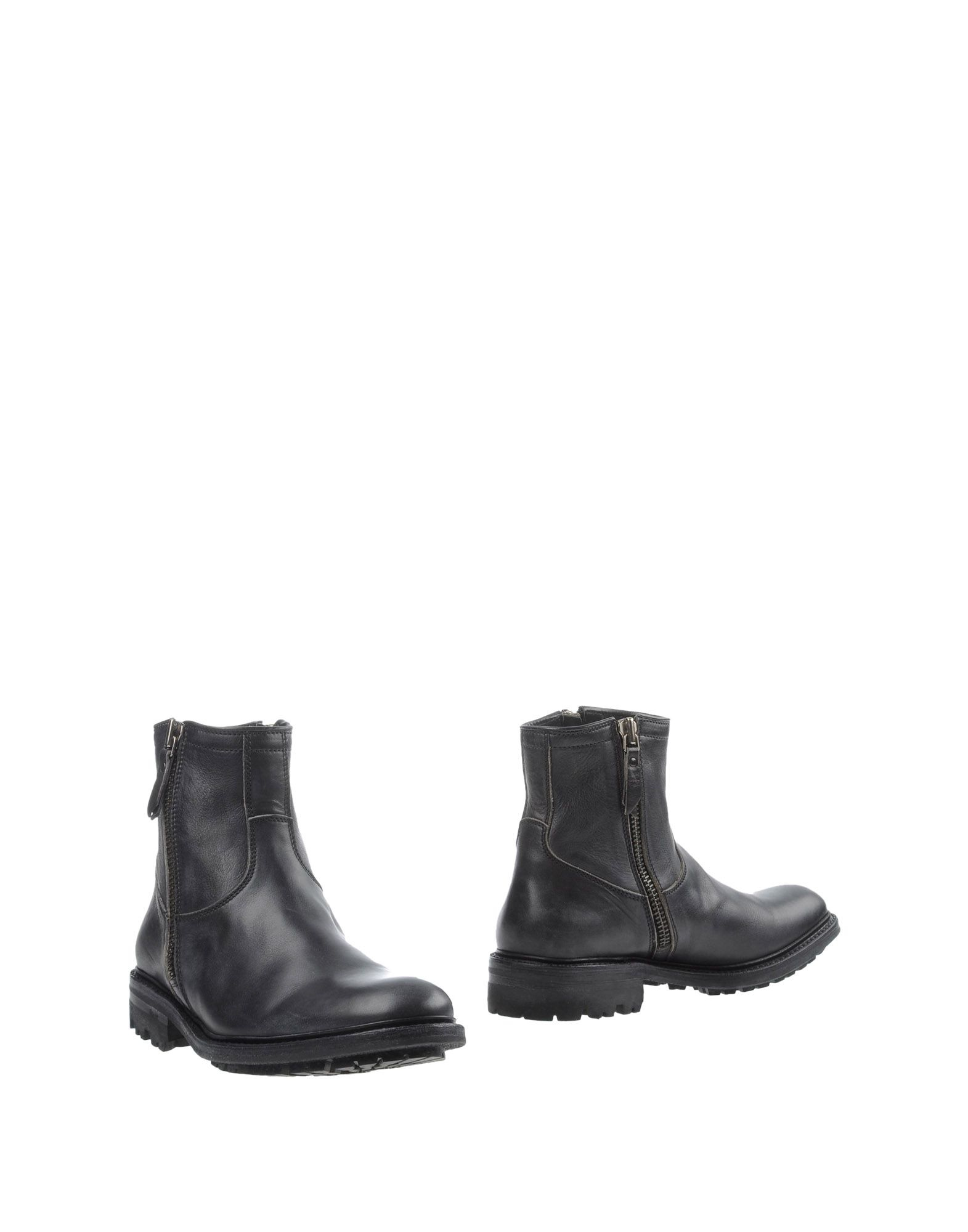 ndc textured leather ankle boots in gray for lyst
