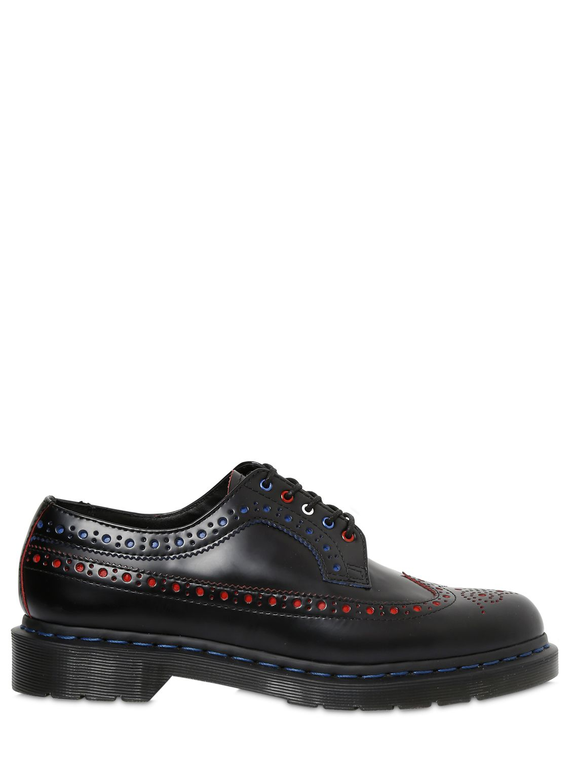 Dr. Martens Multicolor Leather Brogue Lace-Up Shoes in Black for Men