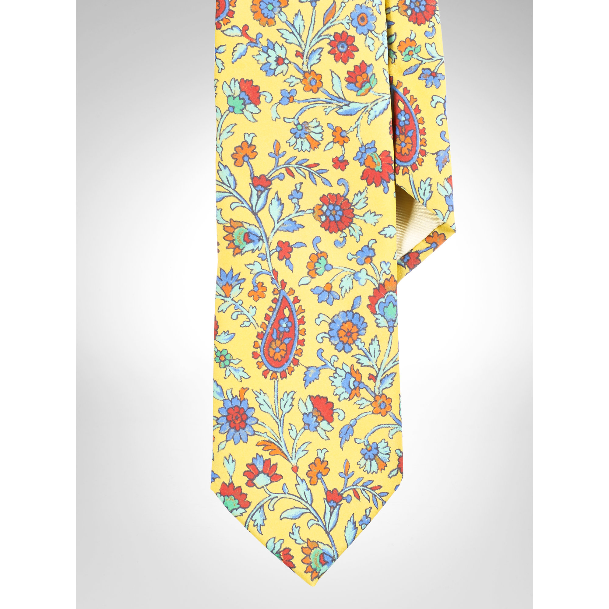 d9987b1f138b Polo Ralph Lauren Exotic Floral Tie in Yellow for Men - Lyst