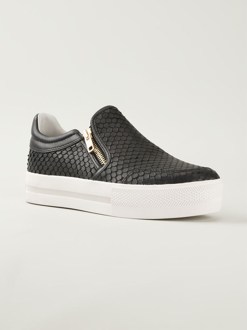 ash jordy slip on sneakers in black lyst