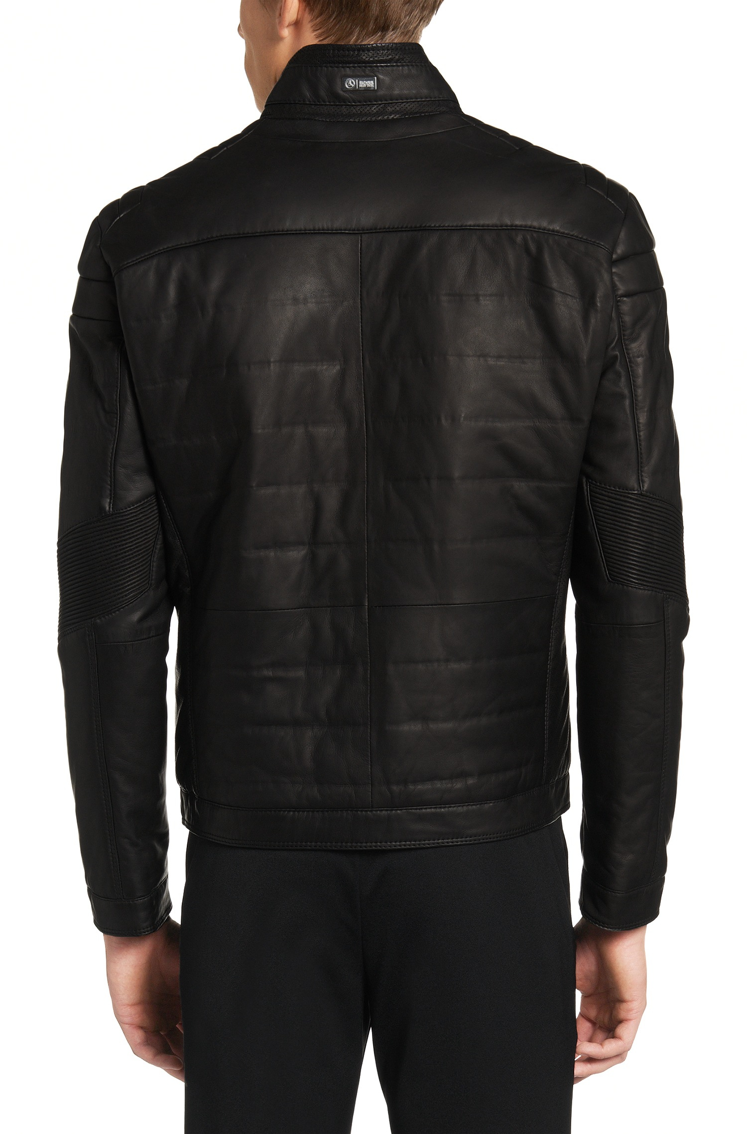 Lyst boss leather jacket 39 nascin 39 from the mercedes for Mercedes benz jacket