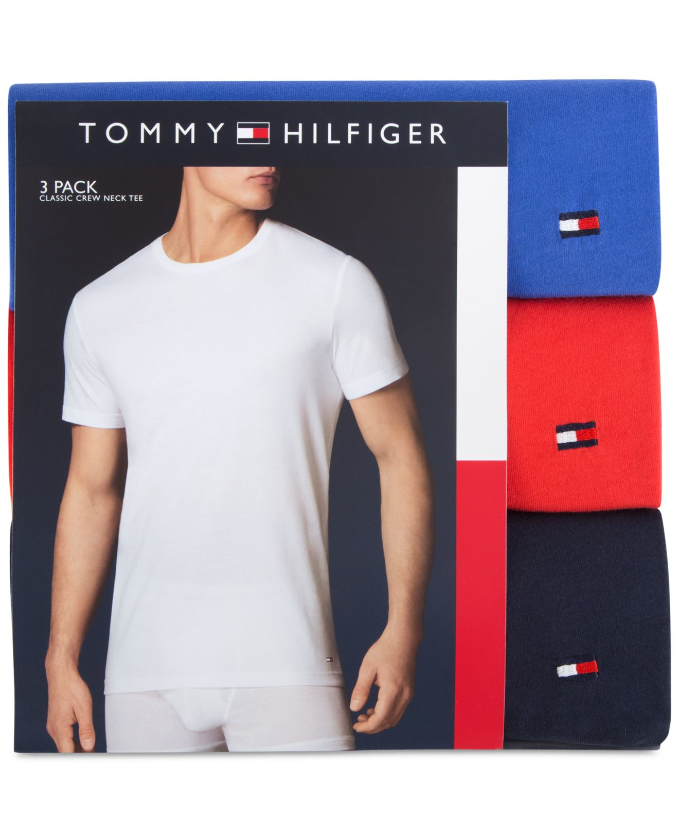 7eca0017 Tommy Hilfiger Men's Classic Crew T-shirts 3-pack in Green for Men ...