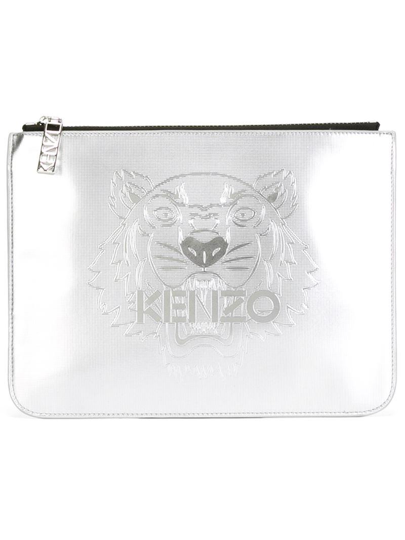 6a7e9982 KENZO 'tiger' Metallic Clutch