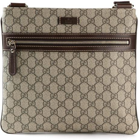 40fdd9545af Gucci Monogram Crossbody Bag in Multicolor for Men (nude   neutrals)