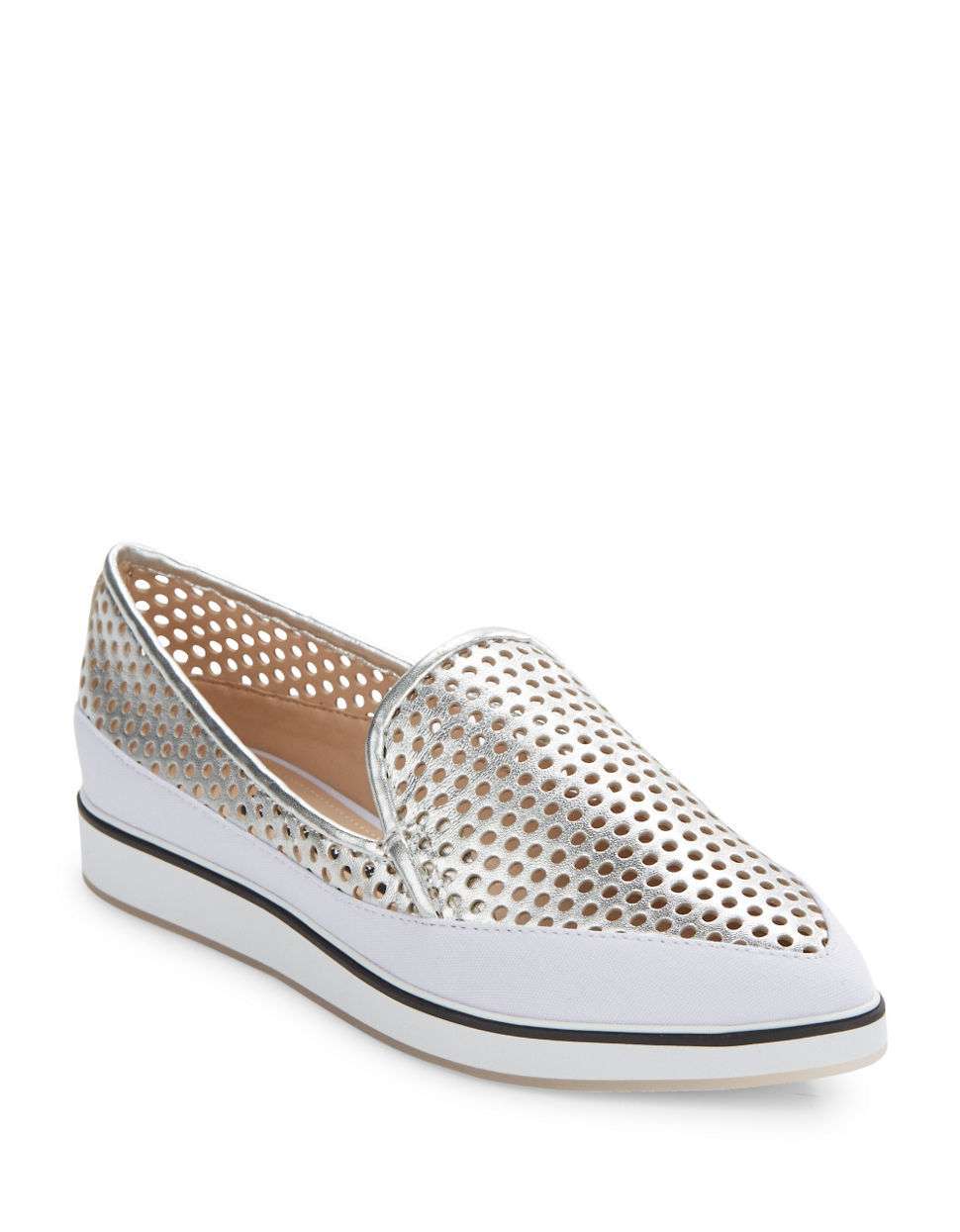 Some days you just don't feel like wearing shoes. These perforated leather, breathable slip-ons by Pikolinos®, with incredibly soft, comfortable Gumlite soles, are made for just such days. The degree handstitched braiding and contrast colors make them just plain fun to wear. In tan. Leather upper, composite sole. Imported.